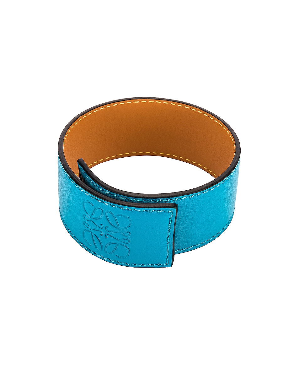 Image 1 of Loewe Small Slap Bracelet in Peacock Blue