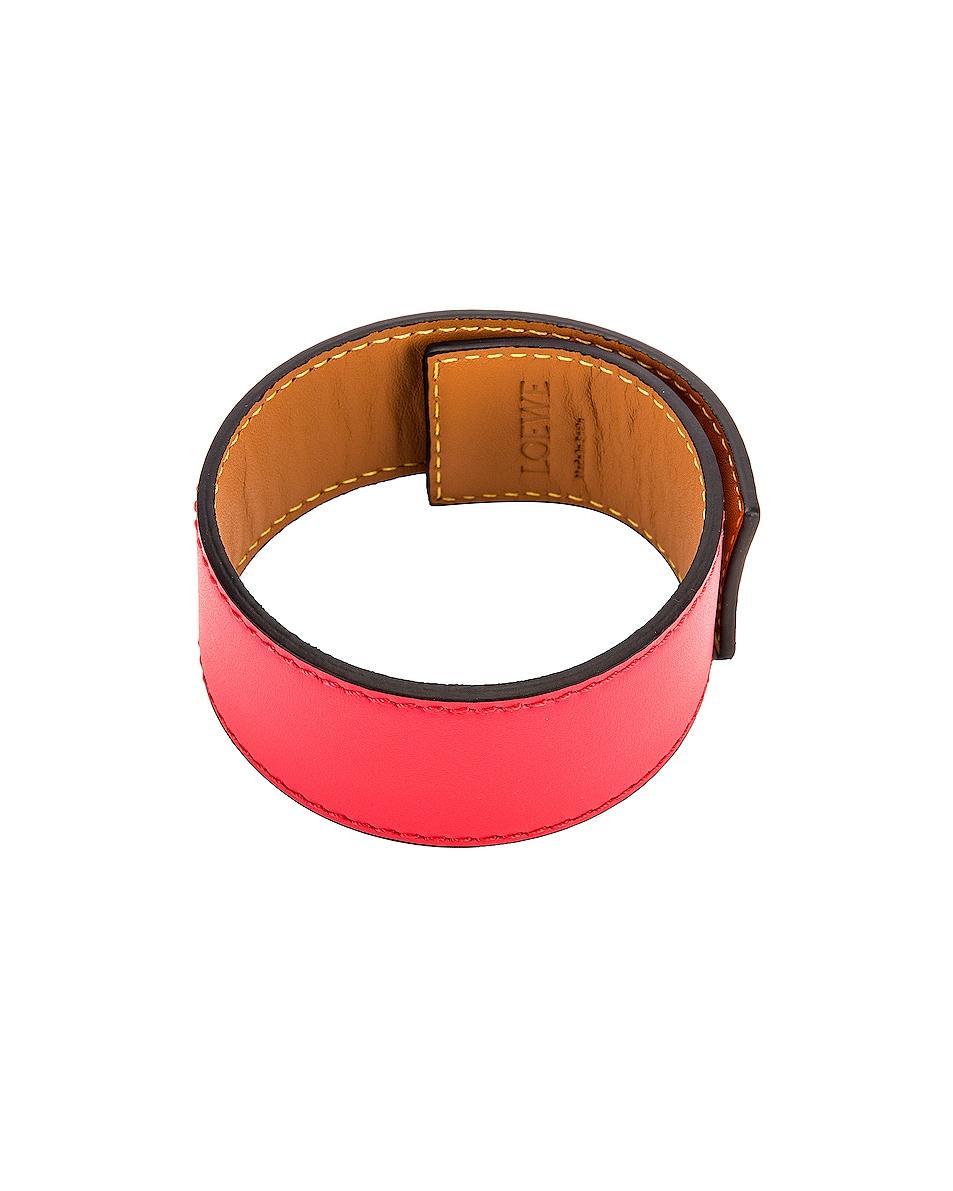 Image 2 of Loewe Small Slap Bracelet in Poppy Pink