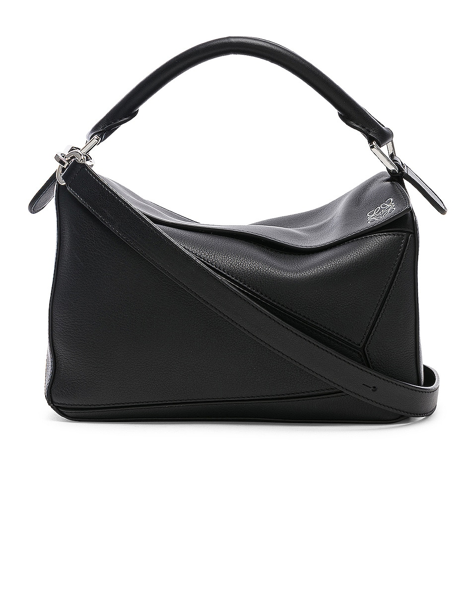 Image 1 of Loewe Puzzle Small Bag in Black