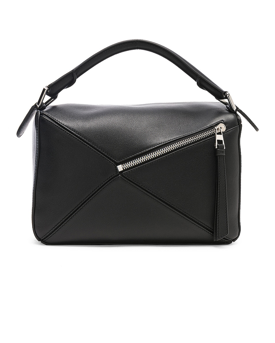 Image 3 of Loewe Puzzle Small Bag in Black