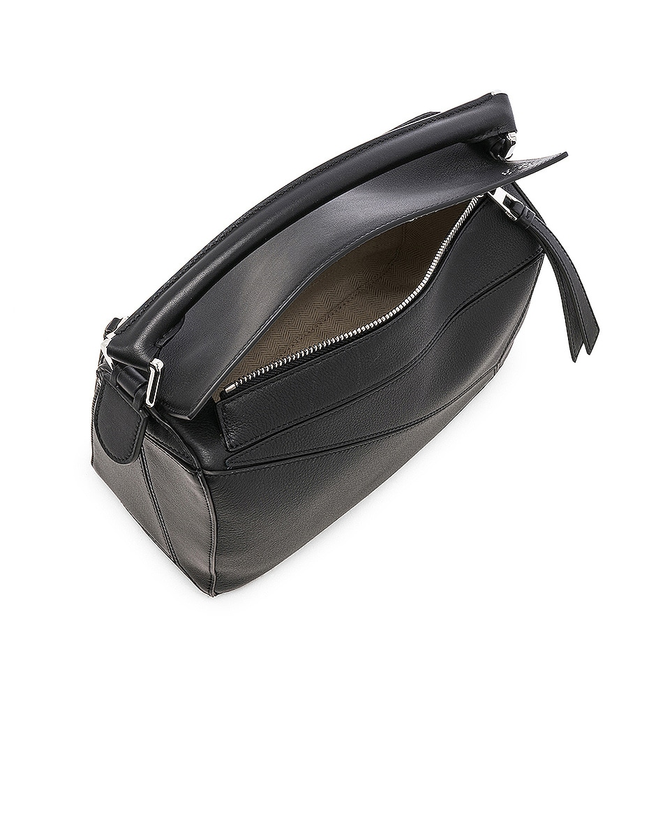 Image 5 of Loewe Puzzle Small Bag in Black