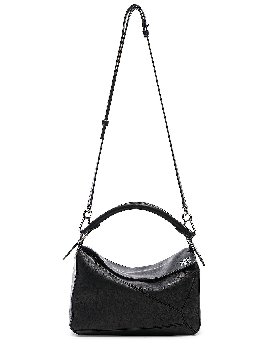 Image 6 of Loewe Puzzle Small Bag in Black