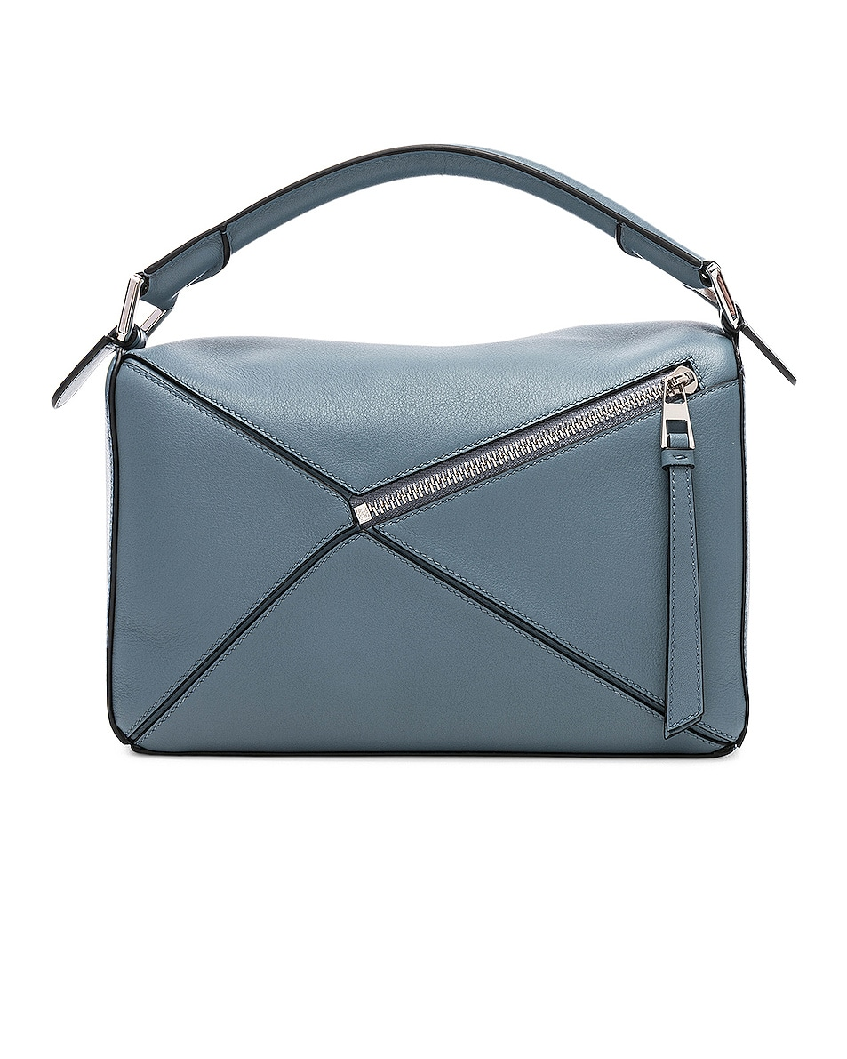 Image 2 of Loewe Puzzle Small Bag in Stone Blue