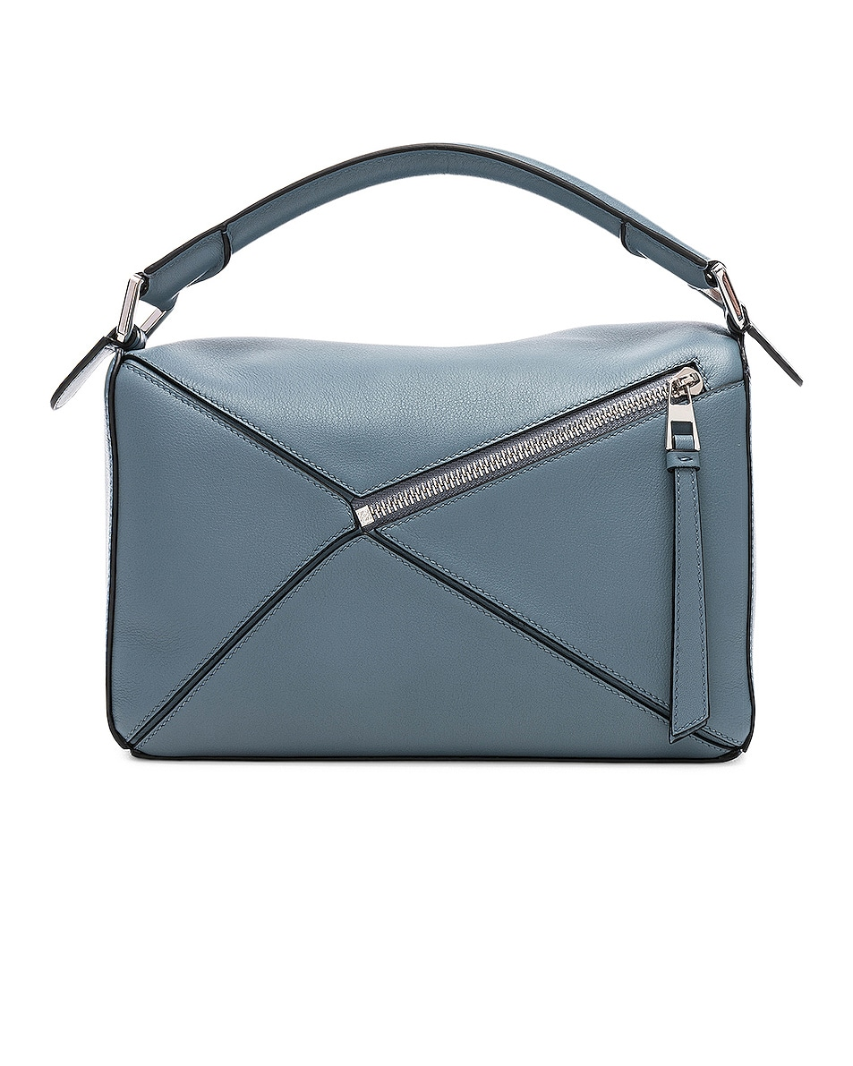 Image 3 of Loewe Puzzle Small Bag in Stone Blue
