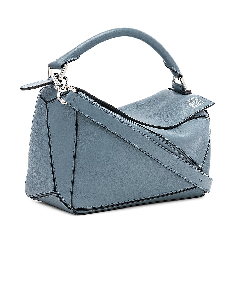 Image 4 of Loewe Puzzle Small Bag in Stone Blue
