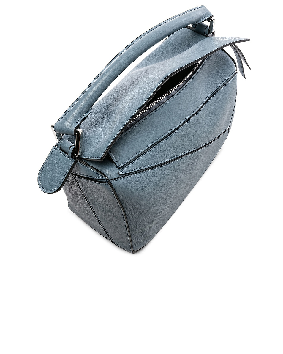 Image 5 of Loewe Puzzle Small Bag in Stone Blue