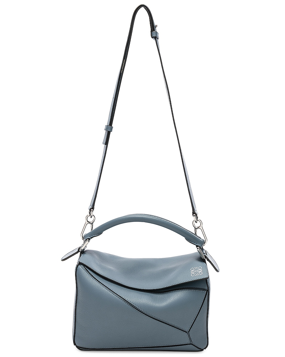 Image 6 of Loewe Puzzle Small Bag in Stone Blue