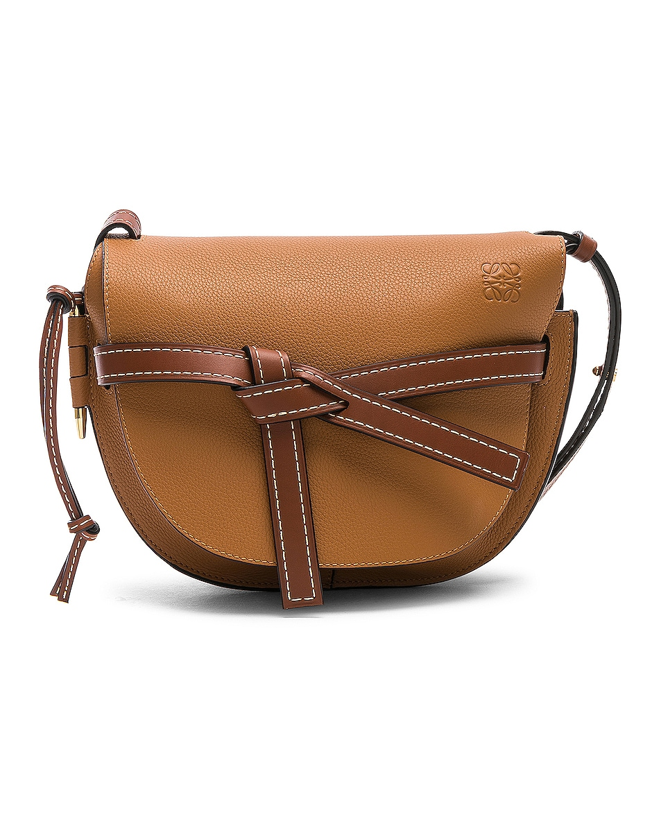 Image 1 of Loewe Gate Small Bag in Light Caramel & Pecan Color