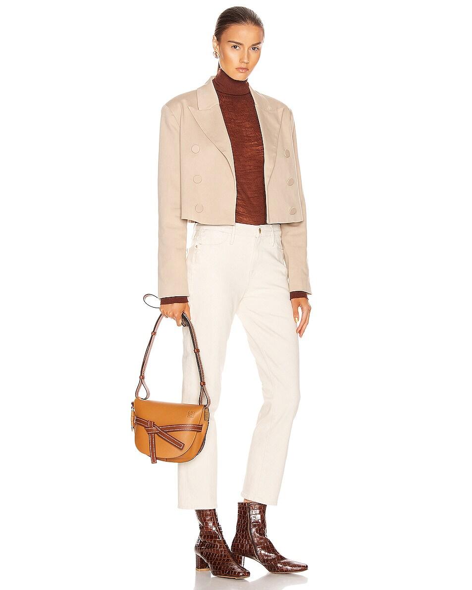 Image 2 of Loewe Gate Small Bag in Light Caramel & Pecan Color