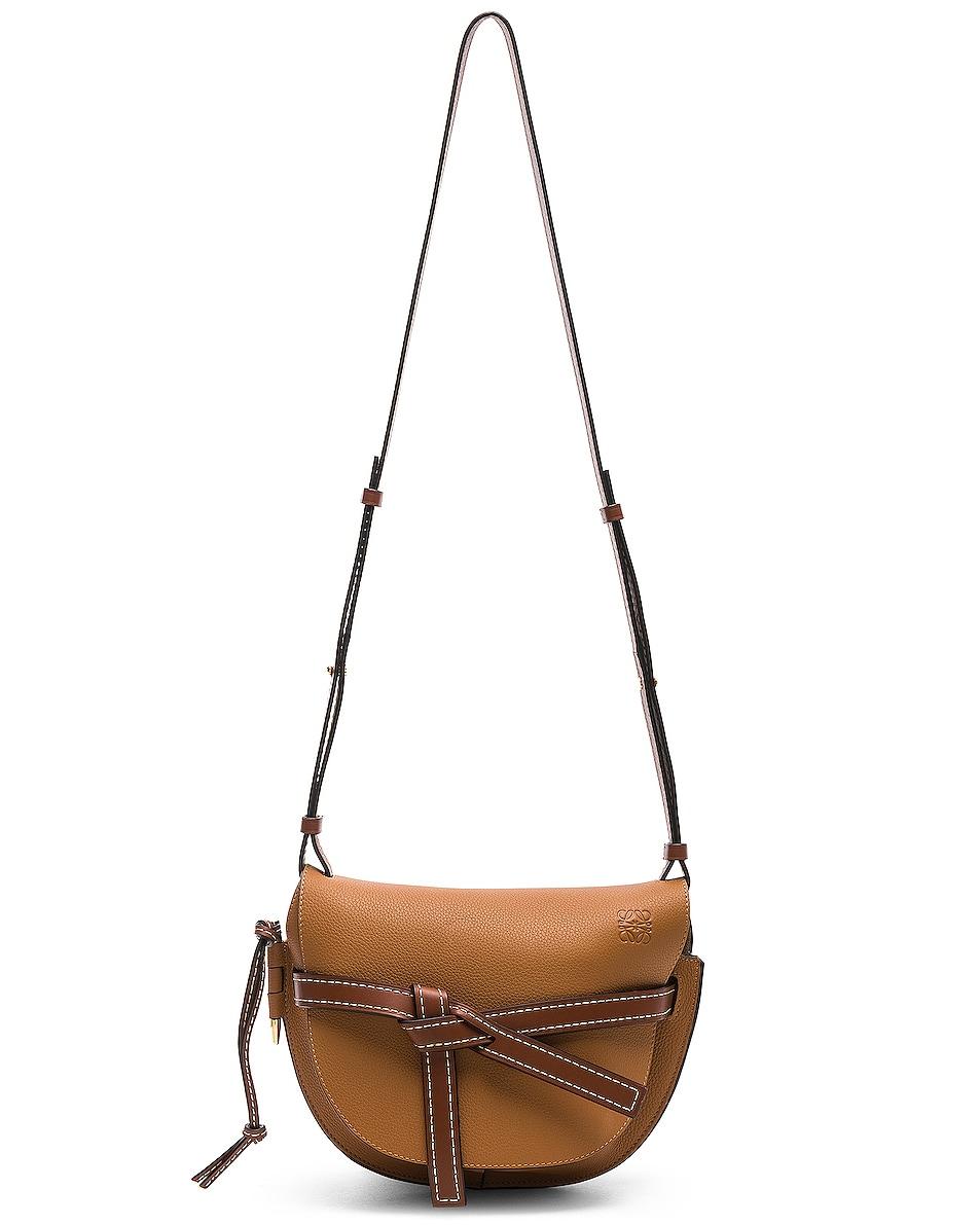 Image 6 of Loewe Gate Small Bag in Light Caramel & Pecan Color