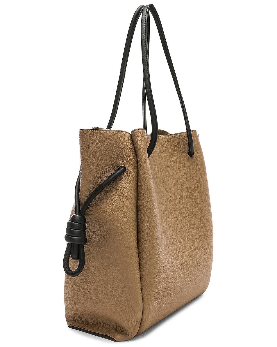 Image 4 of Loewe Flamenco Knot Tote Bag in Mocca & Black