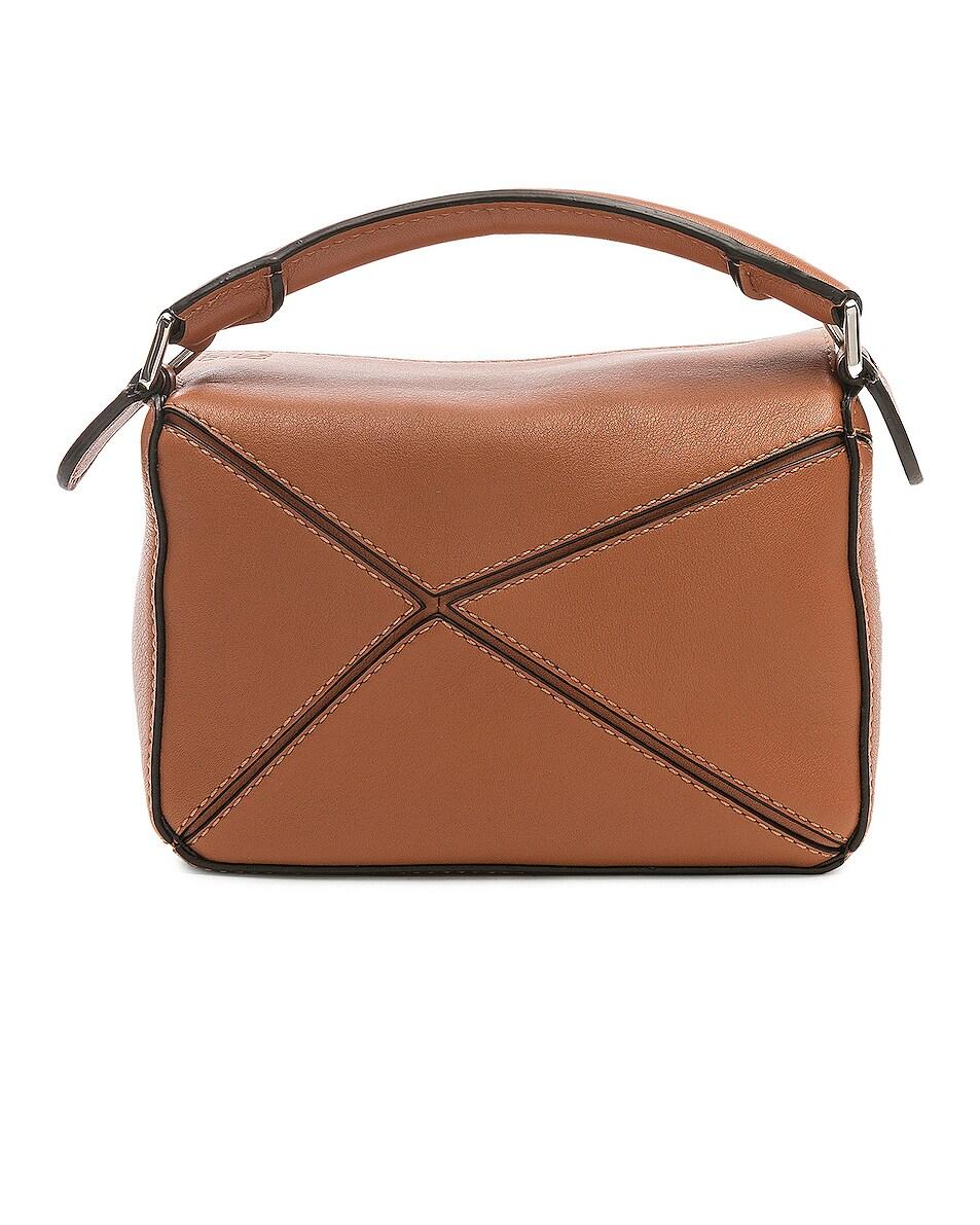 Image 3 of Loewe Puzzle Mini Bag in Tan