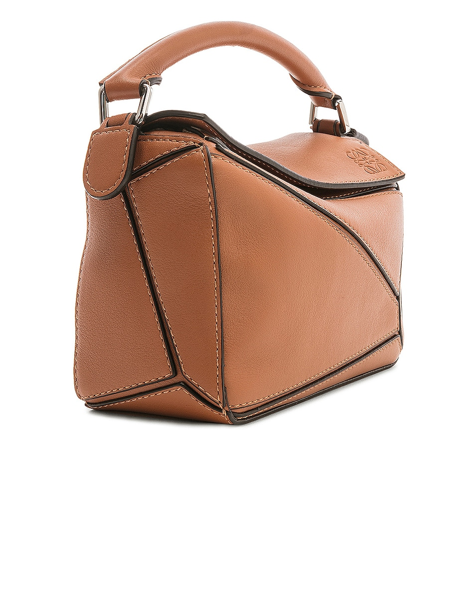Image 4 of Loewe Puzzle Mini Bag in Tan