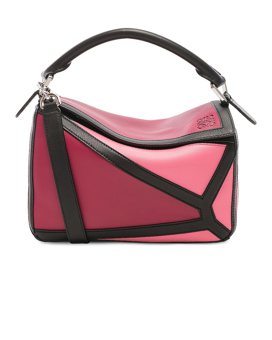 Image 1 of Loewe Puzzle Graphic Small in Raspberry & Wild Rose