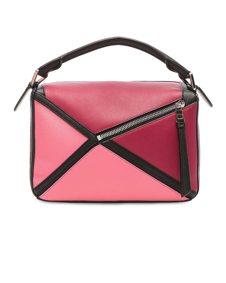 Image 3 of Loewe Puzzle Graphic Small in Raspberry & Wild Rose