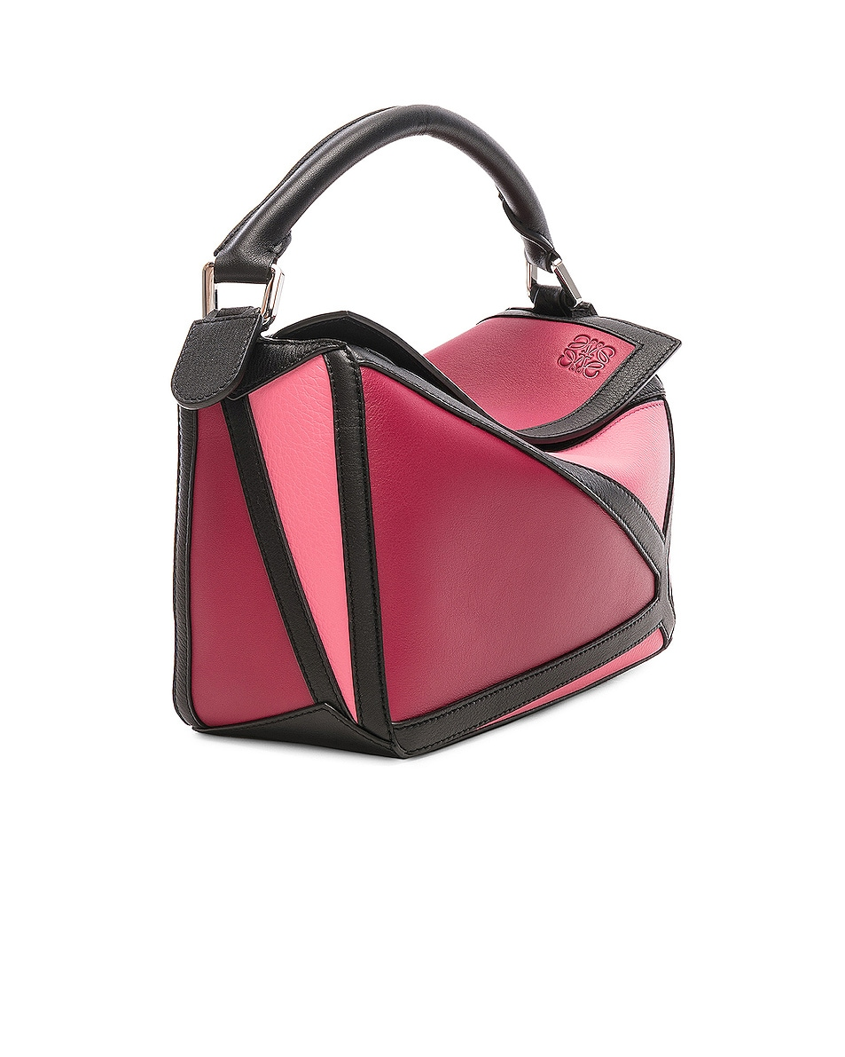 Image 4 of Loewe Puzzle Graphic Small in Raspberry & Wild Rose