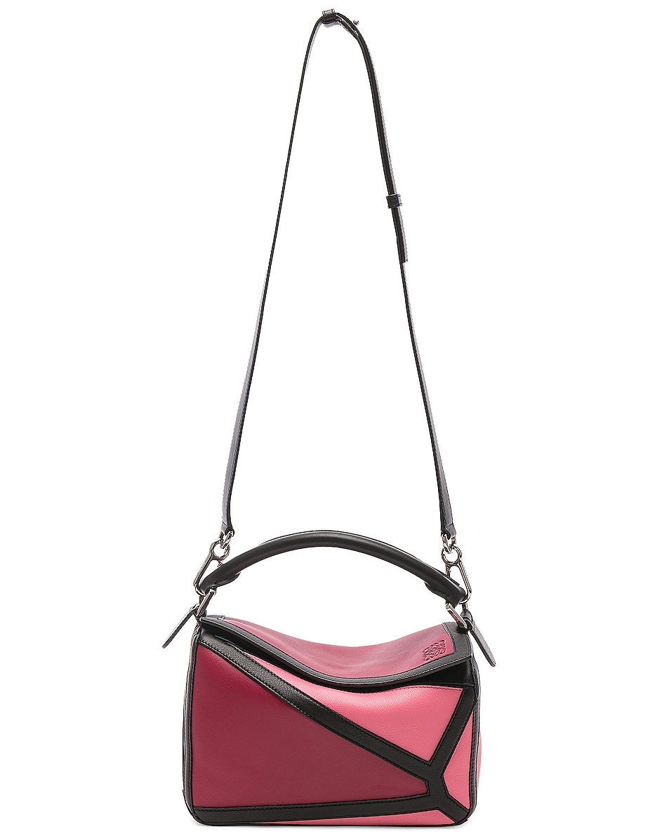 Image 6 of Loewe Puzzle Graphic Small in Raspberry & Wild Rose
