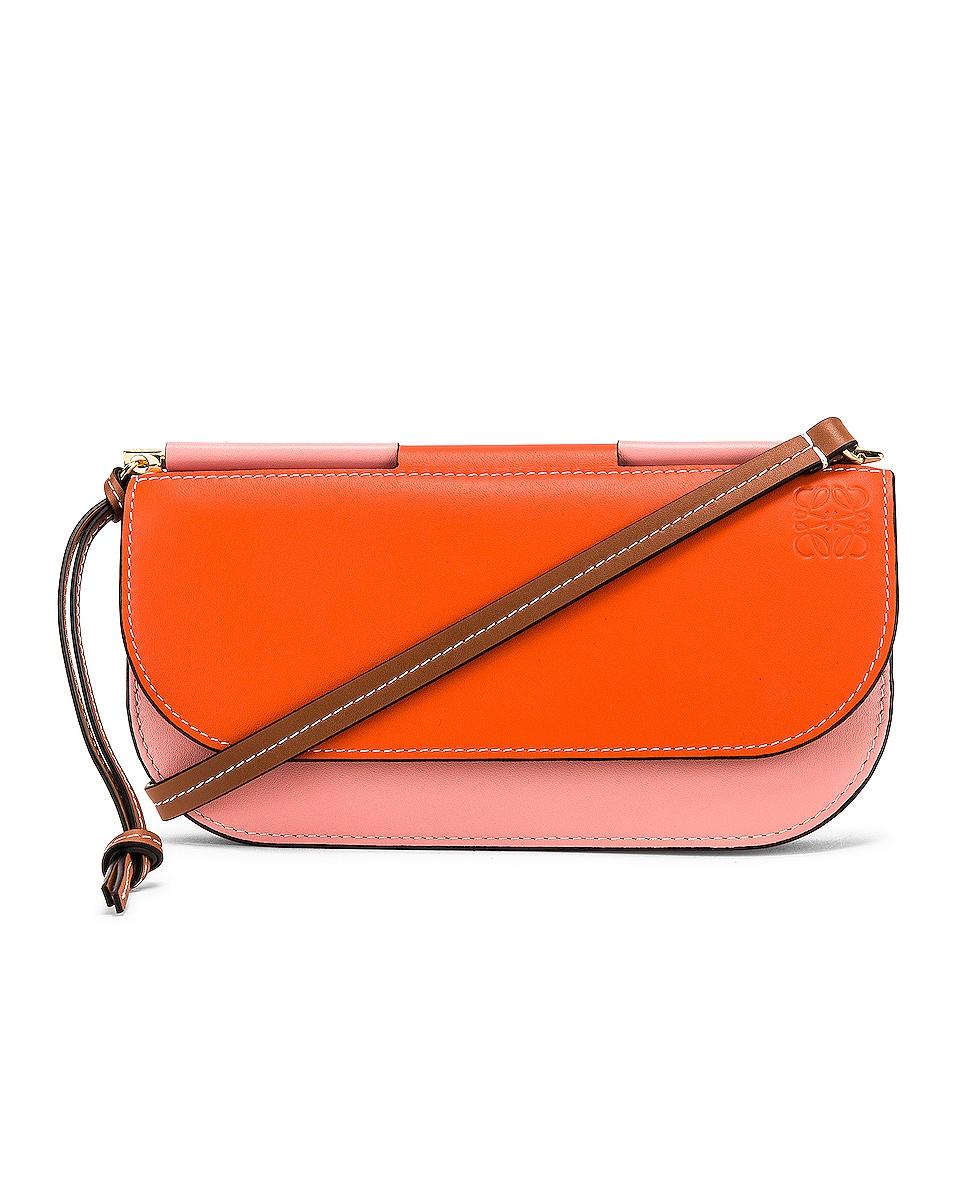 Image 1 of Loewe Gate Pochette in Orange & Blossom