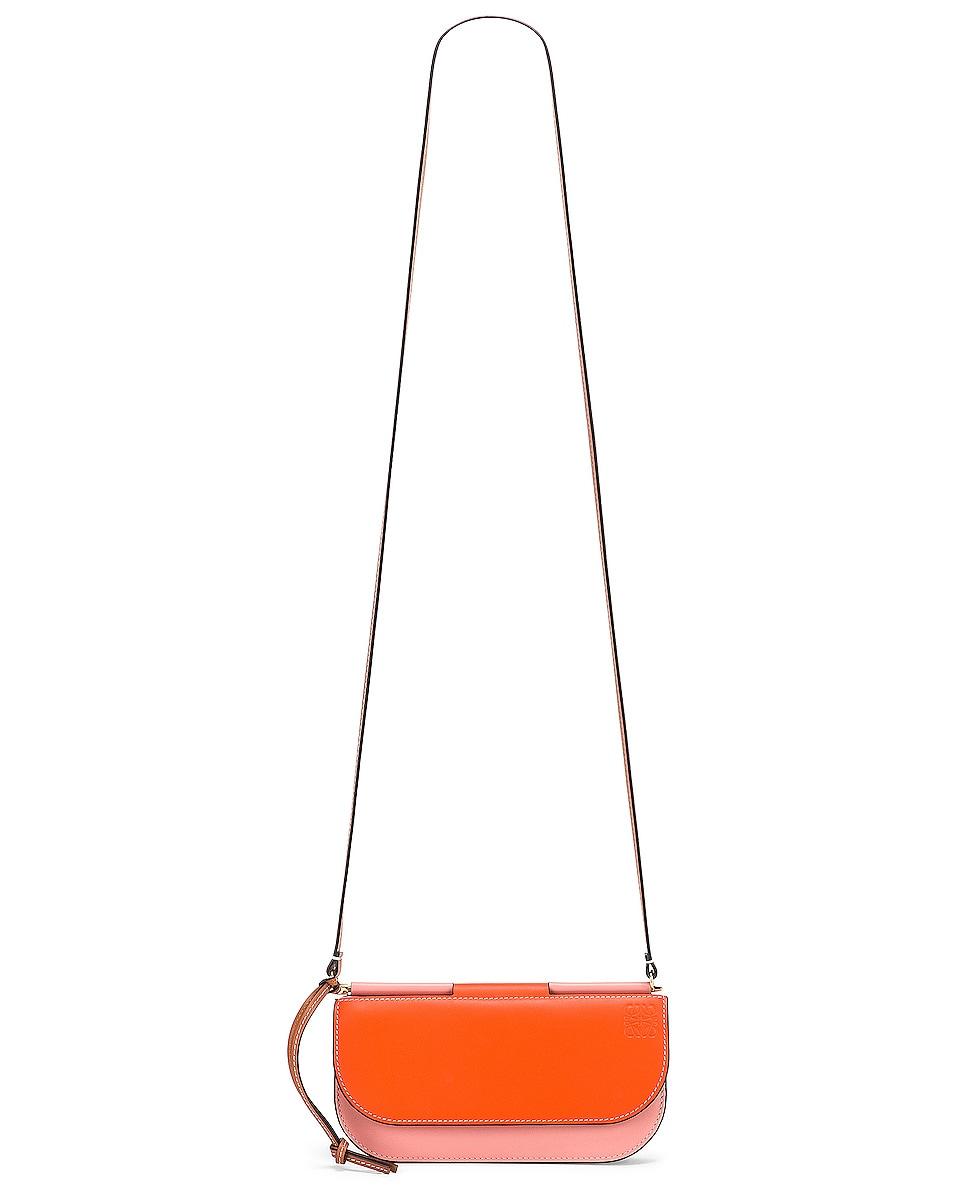 Image 6 of Loewe Gate Pochette in Orange & Blossom