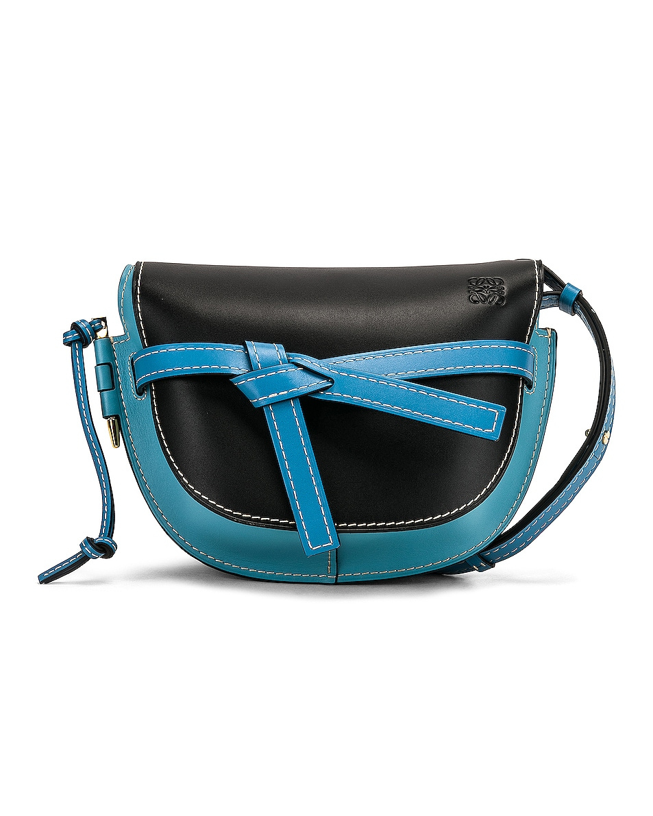 Image 1 of Loewe Gate Small Bag in Black & Light Blue