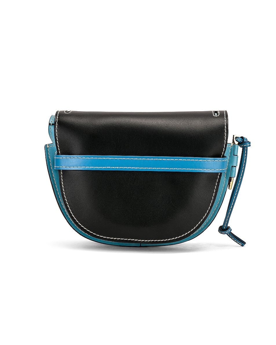 Image 3 of Loewe Gate Small Bag in Black & Light Blue
