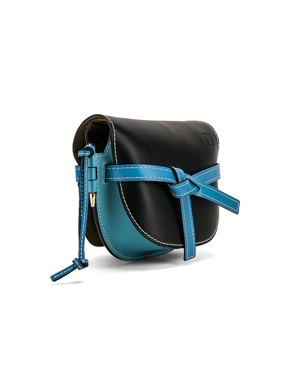 Image 4 of Loewe Gate Small Bag in Black & Light Blue
