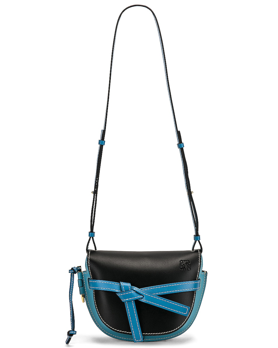 Image 6 of Loewe Gate Small Bag in Black & Light Blue