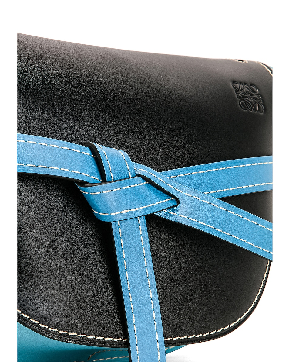 Image 8 of Loewe Gate Small Bag in Black & Light Blue