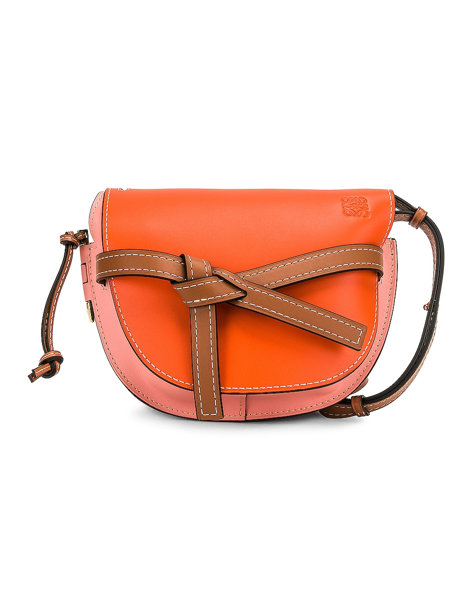 Image 1 of Loewe Gate Small Bag in Orange & Blossom