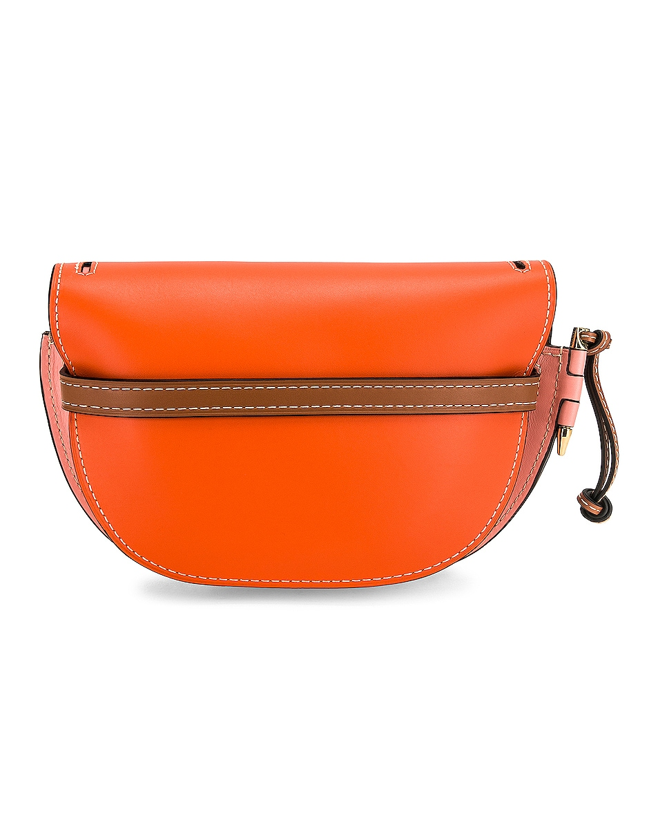 Image 3 of Loewe Gate Small Bag in Orange & Blossom