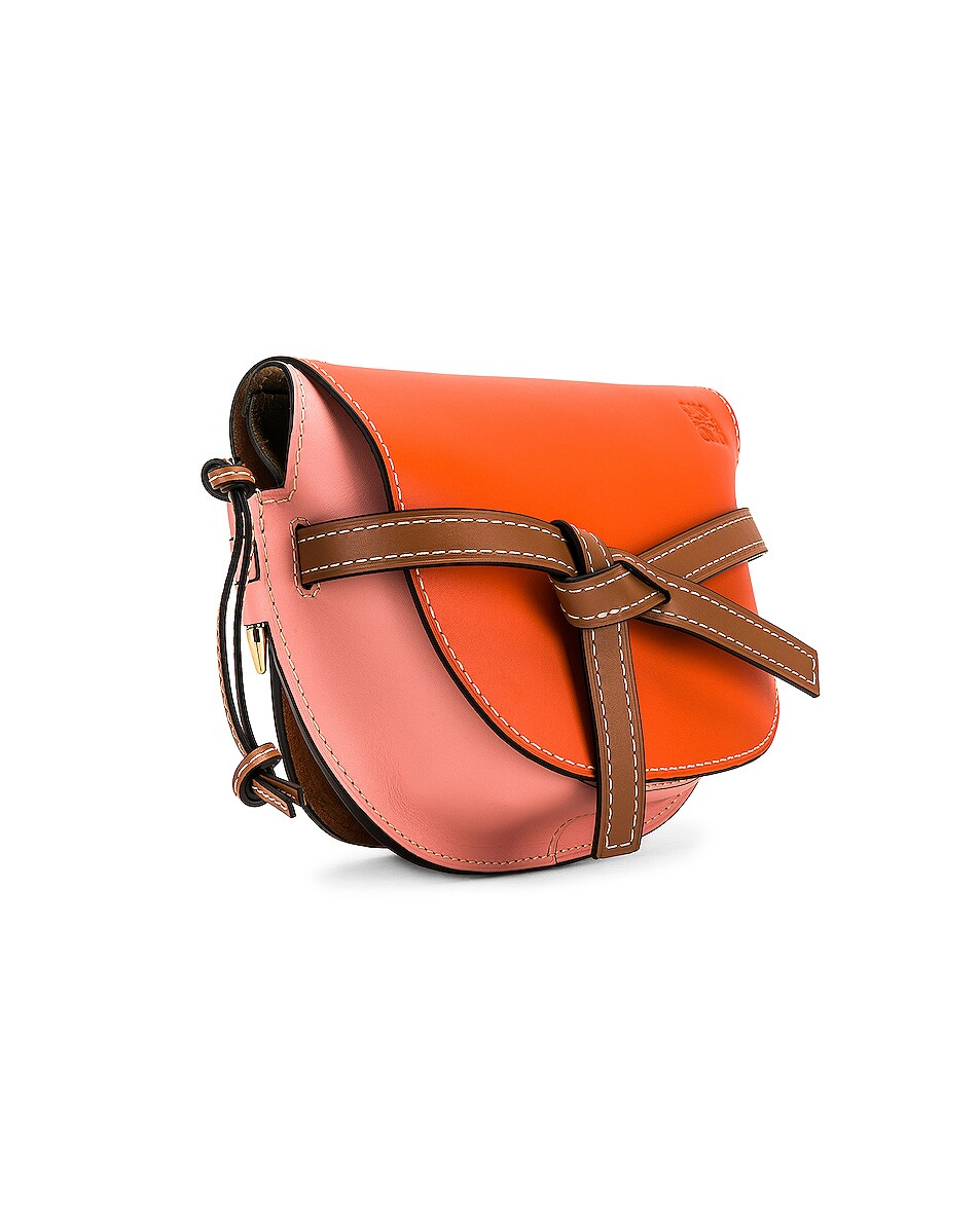 Image 4 of Loewe Gate Small Bag in Orange & Blossom