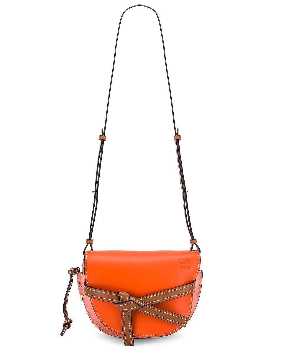 Image 6 of Loewe Gate Small Bag in Orange & Blossom
