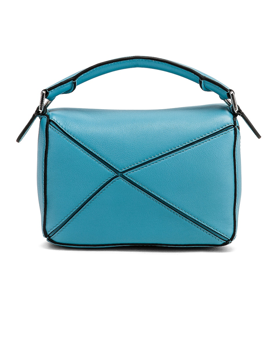 Image 3 of Loewe Puzzle Mini Bag in Light Blue