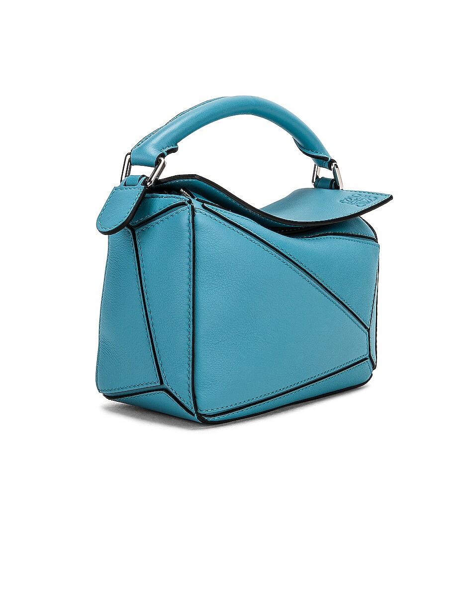 Image 4 of Loewe Puzzle Mini Bag in Light Blue