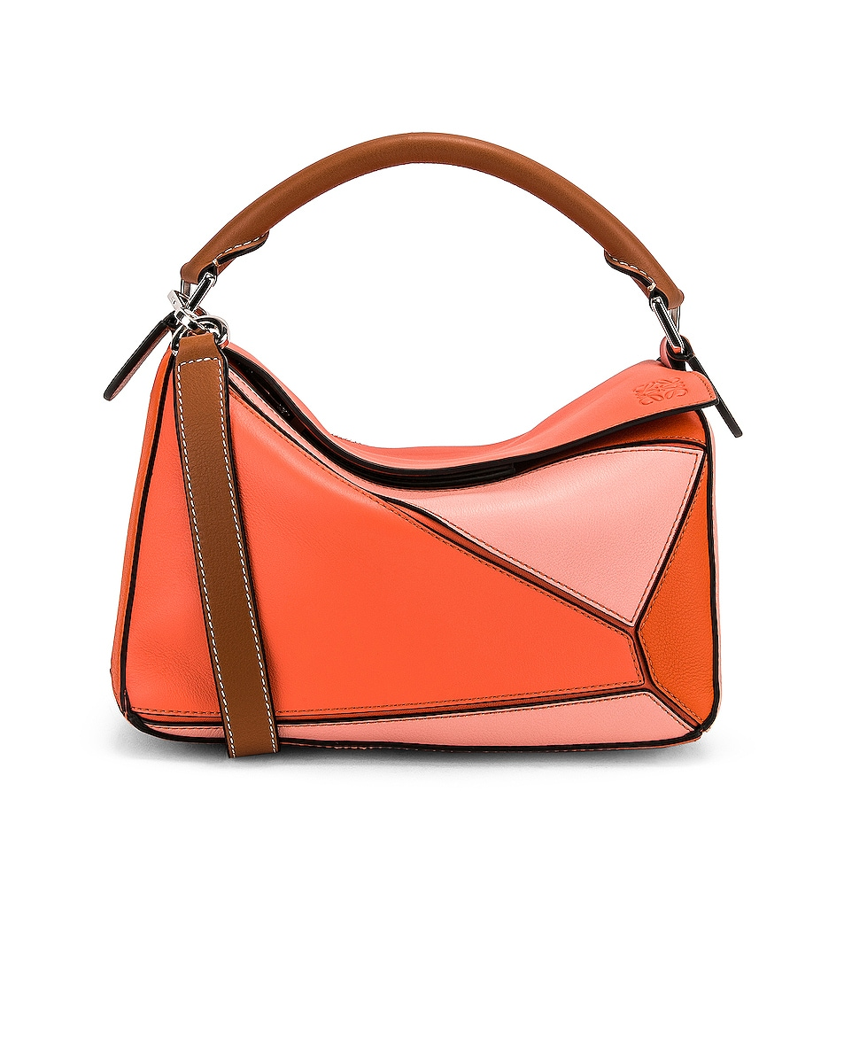 Image 1 of Loewe Puzzle Small Bag in Blossom & Bright Peach