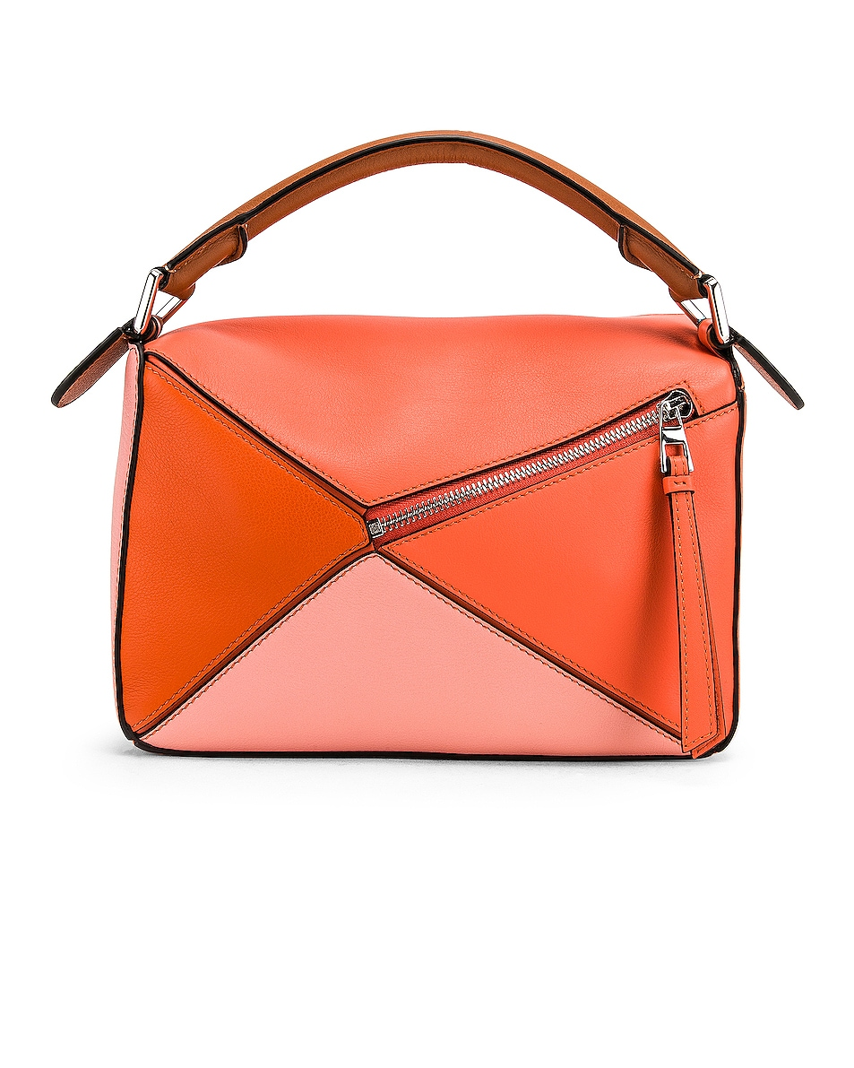 Image 3 of Loewe Puzzle Small Bag in Blossom & Bright Peach