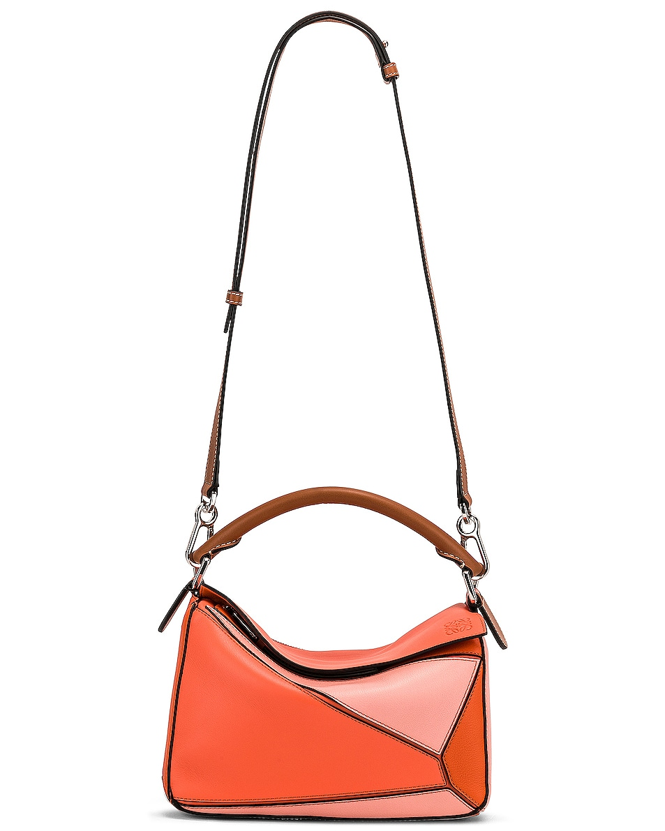 Image 6 of Loewe Puzzle Small Bag in Blossom & Bright Peach