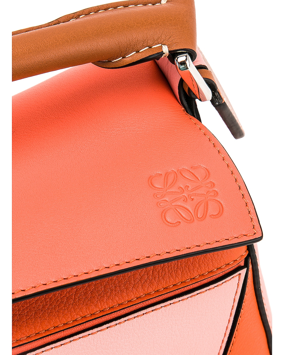 Image 8 of Loewe Puzzle Small Bag in Blossom & Bright Peach