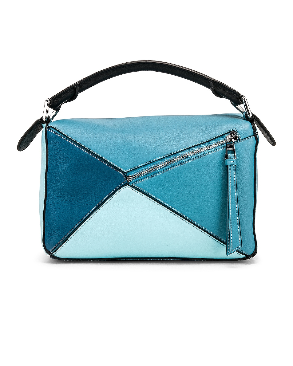 Image 3 of Loewe Puzzle Small Bag in Light Blue & Aqua