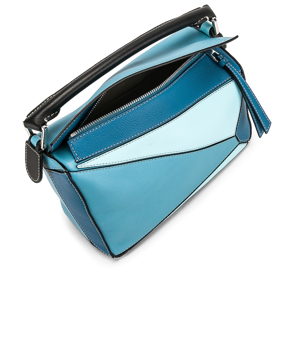 Image 5 of Loewe Puzzle Small Bag in Light Blue & Aqua