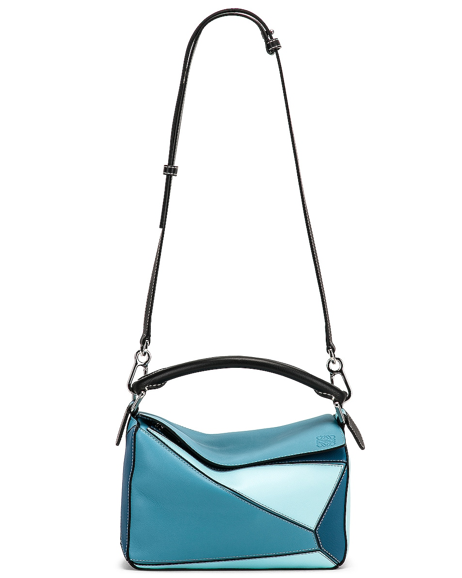 Image 6 of Loewe Puzzle Small Bag in Light Blue & Aqua