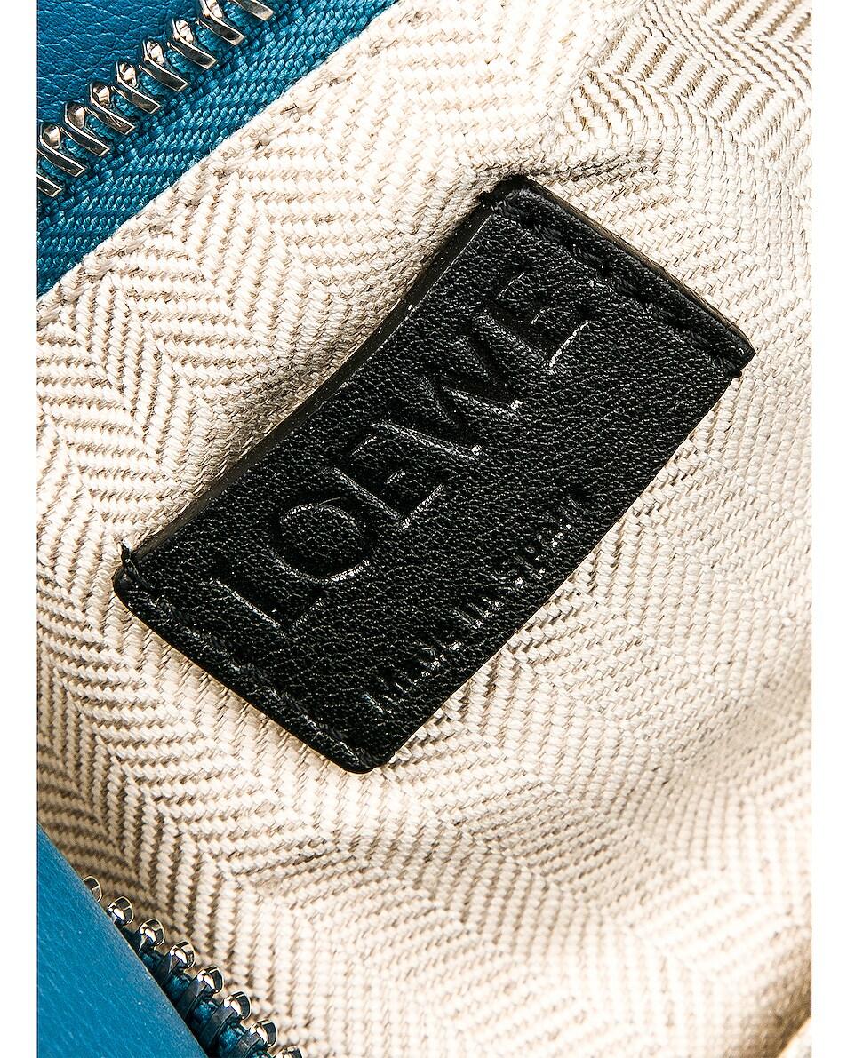Image 7 of Loewe Puzzle Small Bag in Light Blue & Aqua