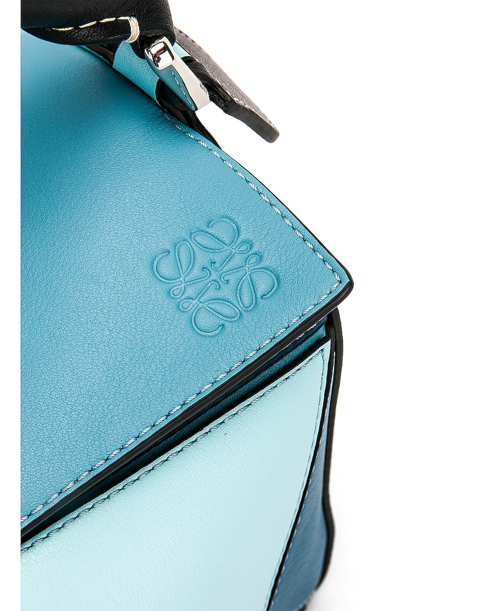 Image 8 of Loewe Puzzle Small Bag in Light Blue & Aqua