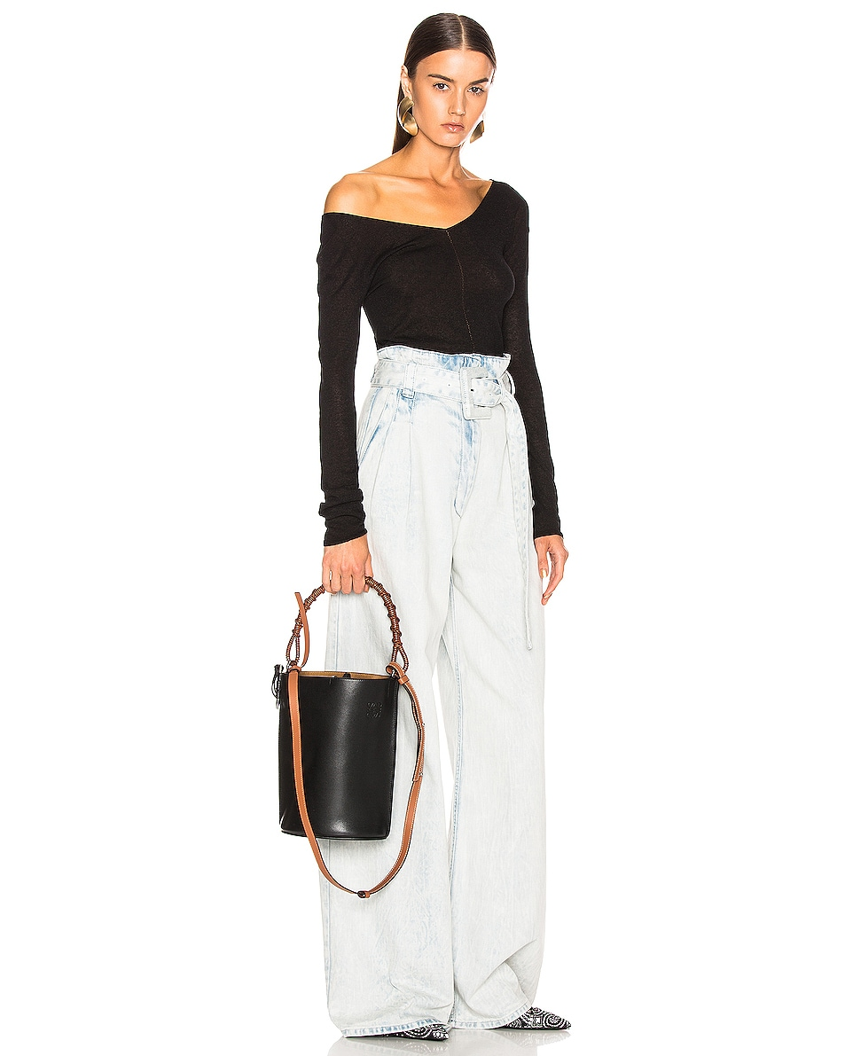 Image 2 of Loewe Gate Bucket Bag in Black