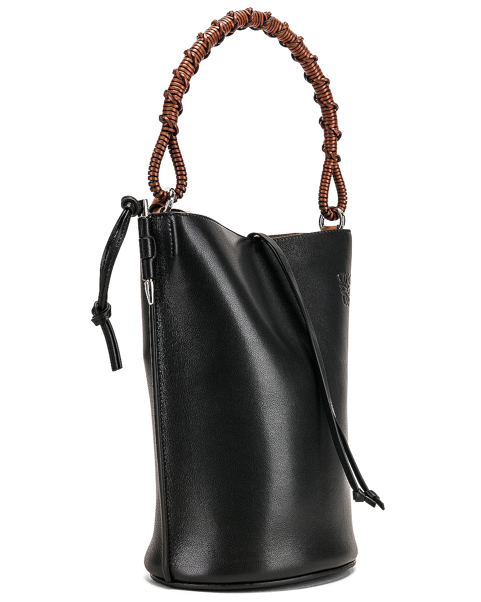 Image 4 of Loewe Gate Bucket Bag in Black