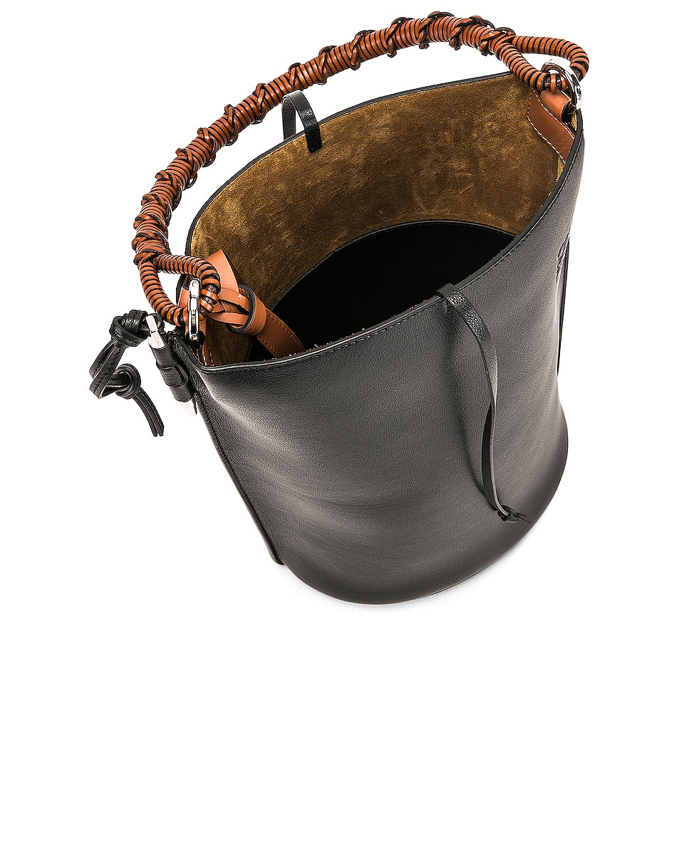 Image 5 of Loewe Gate Bucket Bag in Black