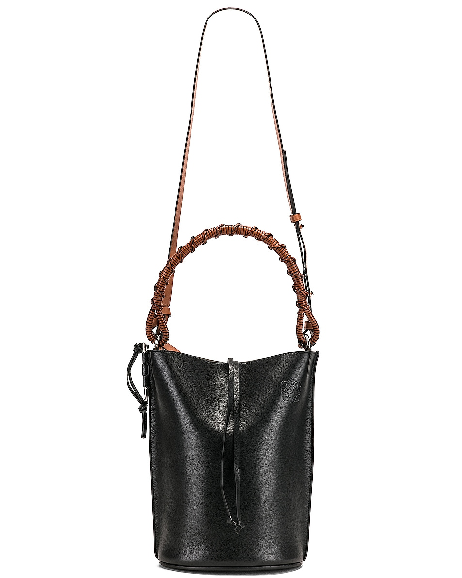 Image 6 of Loewe Gate Bucket Bag in Black
