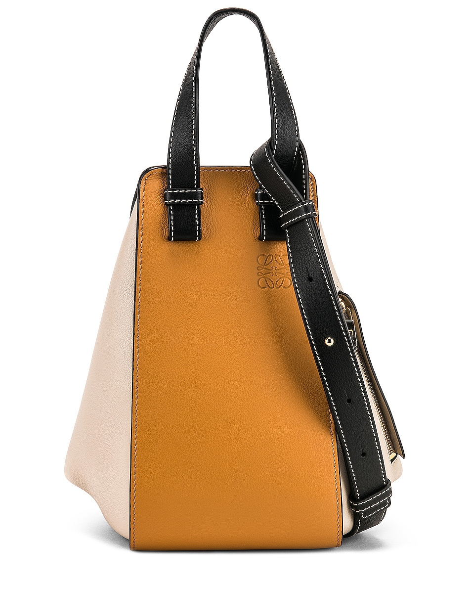 Image 1 of Loewe Hammock Small Bag in Amber & Light Oat