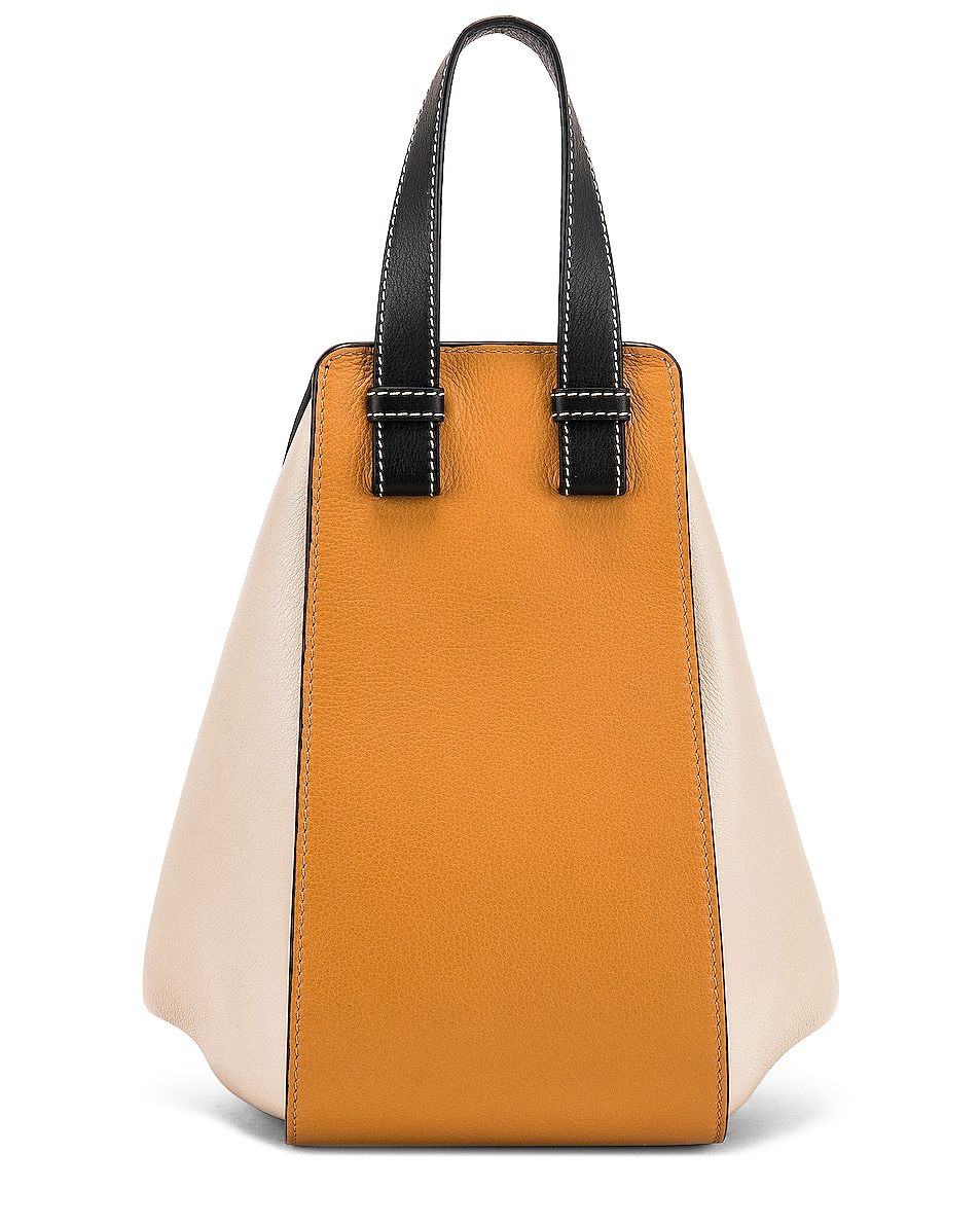 Image 3 of Loewe Hammock Small Bag in Amber & Light Oat