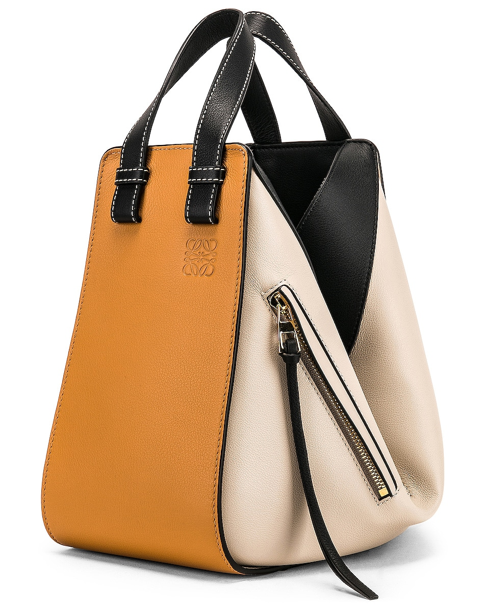 Image 4 of Loewe Hammock Small Bag in Amber & Light Oat